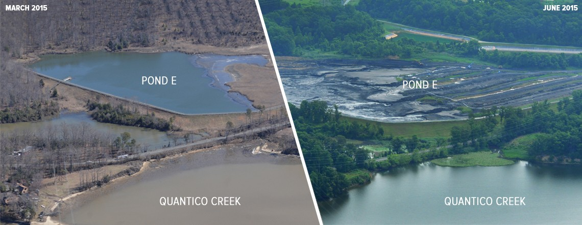 Emptied coal ash pond at virginia dominion power site for Domon power release
